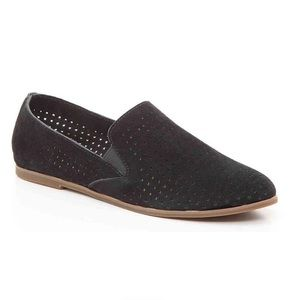 Lucky Brand ☘️LP-Carthy Black Suede Loafer Flat LN